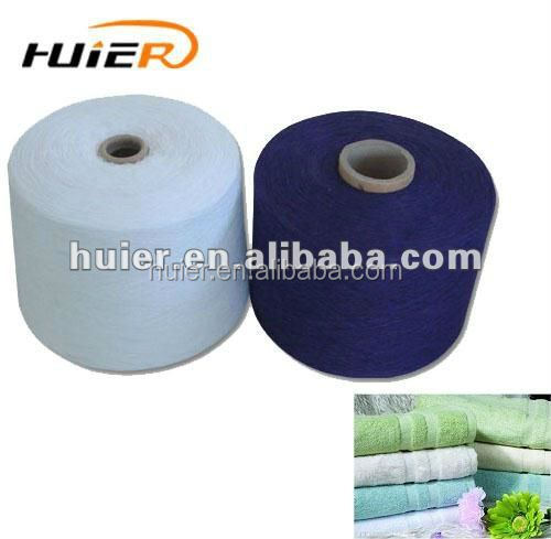 compact and chunky recycled cotton yarn for woven fabric