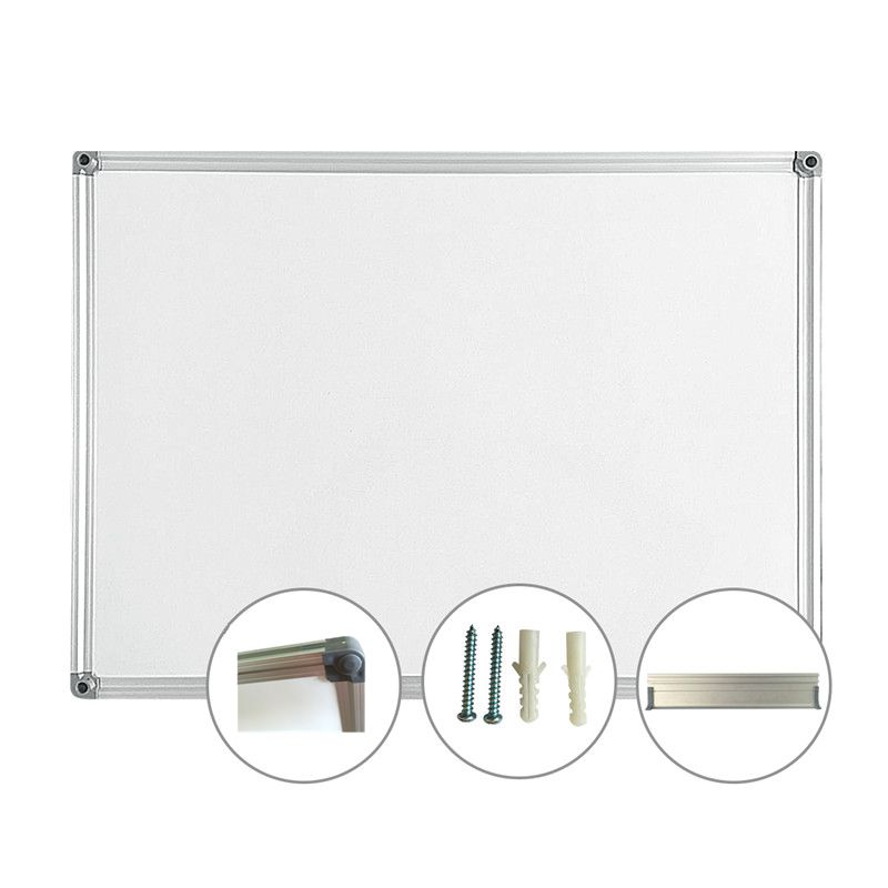 2017 new magnetic aluminium frame notice white board with good writingsurface