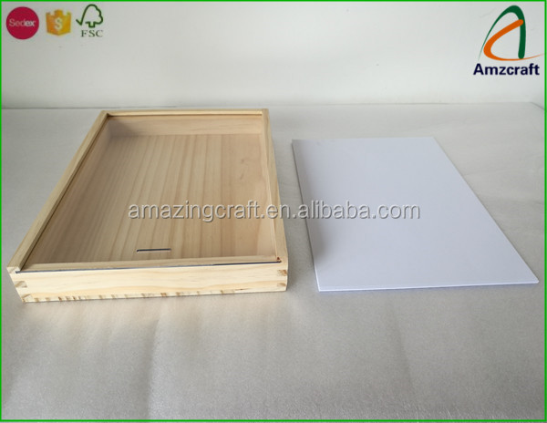Wholesale Unfinished Sliding Lid Top Wooden Boxes Buy