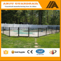 pool fence-018 flap top powder coated swimming pool fence,price metal fence