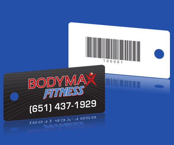 Fitness GYM EAN 128 Barcode Key Tags