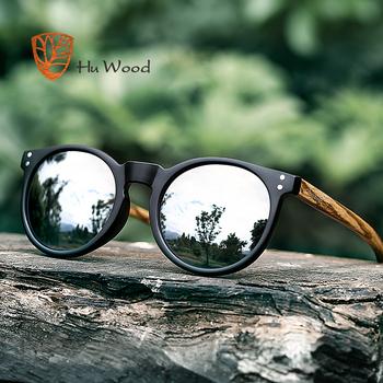 b91e12c23de HU WOOD Brand Designer Polarized Sunglasses Men Plastic Frame Wood  Earpieces Fashion Oval Sun Glasses Mirror