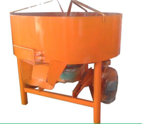 Cheap mini Electrical Driven JW750 pan type concrete mixer with 750L discharge capacity