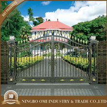 Alibaba china new product iron gate hotel and suites prague /wrought iron gate singapore/main gate designs