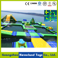 Customized NEVERLAND TOYS Giant Inflatable Water Park Floating Aqua Park Inflatable Amusement Park Equipment for Sale