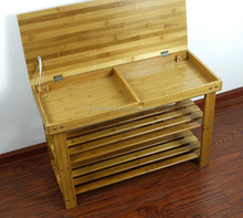 Natural Bamboo Shoes Rack Bench Shelf-2 Tier