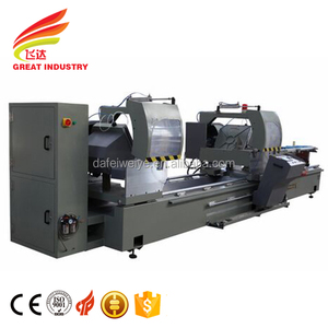 cnc cutting aluminium profiles sliding table saw for window and door with 45~90 degree