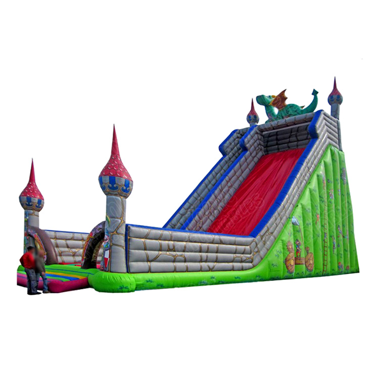 large super army theme sky fall skyfalls inflatable slide inflatable dry slide for children and adults