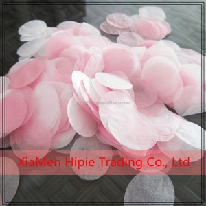Pink And White Rose Petal Confetti Tissue Paper Wedding Throwing Confetti