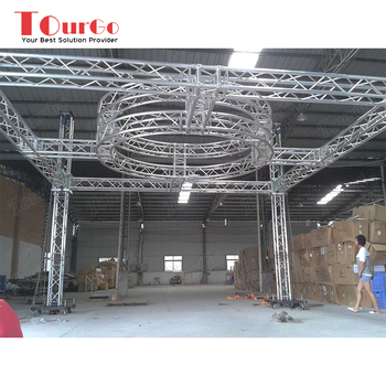 Tourgo Aluminum Stage Lighting Truss Structure Round Roof Design