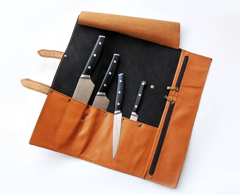 Leather Chef Knife Roll Case Bag