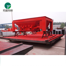 Cable reel powered rail equipment trolleys for material transport