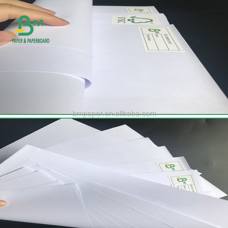 2018 smothness 80g 120g uncoated FSC certificate woodfree paper