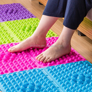 Colorful Natural Rubber Foot Acupuncture Massager Pad