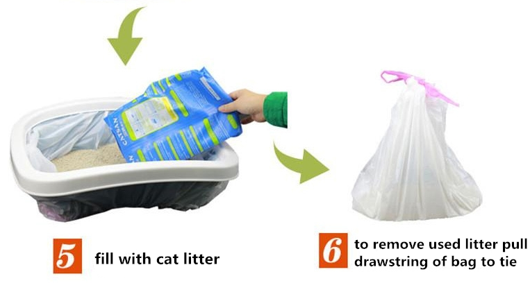high quality garbage bag cat litter liner bag