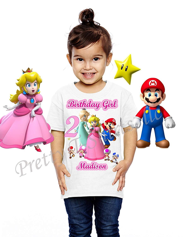 b589727ed65 Get Quotations · Princess Peach Birthday Shirt