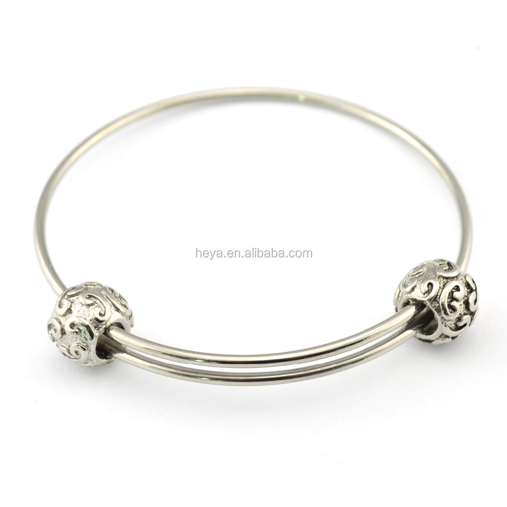 2016 New design stainless steel expandable wire Alex bangle bracelet