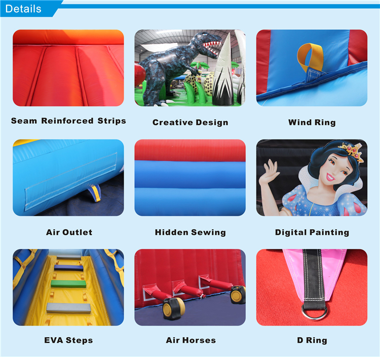 Giant inflatable polar bear slide, snow winter toboggan inflatable slide