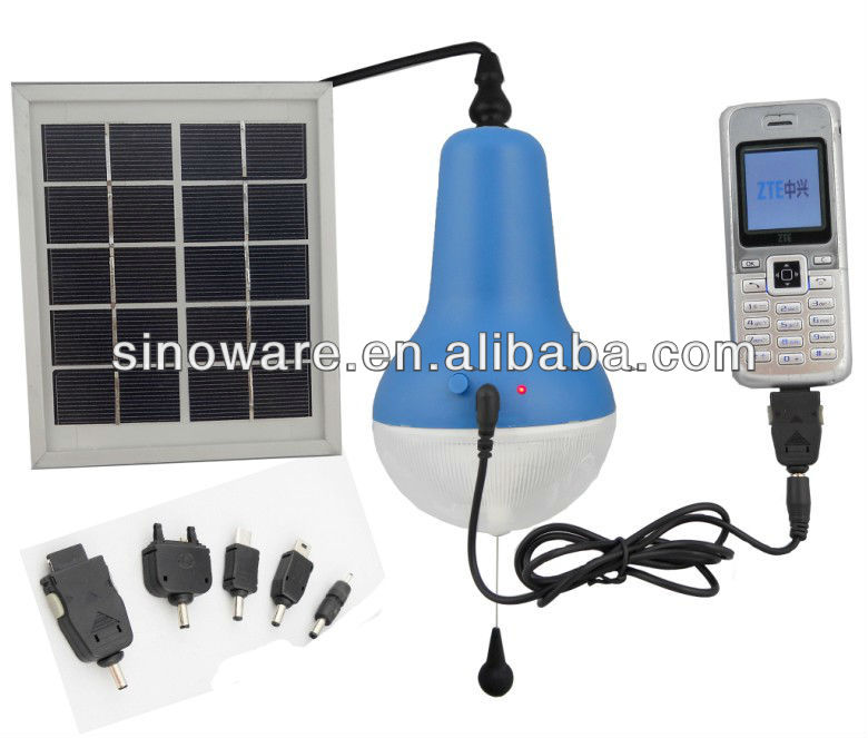 Solar Lamp With Mobile Phone Charger For Iphone For Samsung Nokia ...