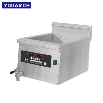 5000W 220V Single Phase Cooking Small Equipment Tabletop Chicken Chip Commercial Induction Deep Fryer Machine