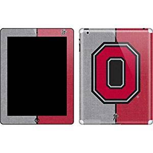 Ohio State University New iPad Skin - OSU Ohio State Buckeyes Split Vinyl Decal Skin For Your New iPad