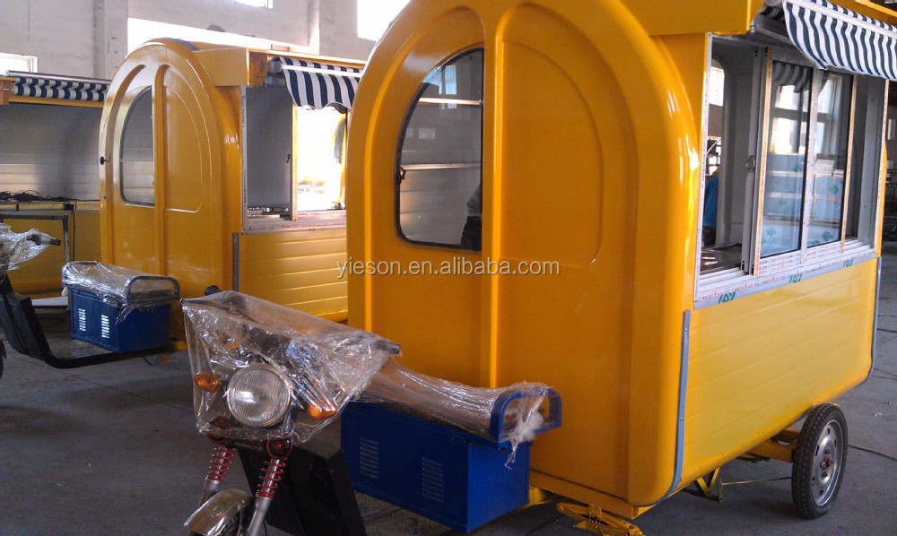 3 Wheel Scooter Motorcycle Food Cart Fast Food Car Hot Dog Cart For Sale Trucks For Sale Mobile ...