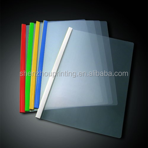 China manufacturer promotional custom pvc filling holder clear PP plastic sliding bar report cover for document