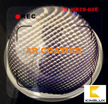 Anti Glare 78mm 60deg Led Glass Lens With Gasket Kit For Cree Low ...