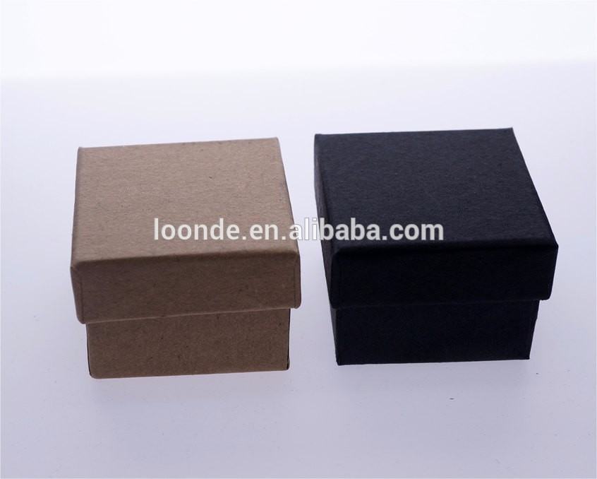 Unique black and brown paper ring box for wedding favor