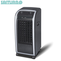 Mini air cooler stand fan with plastic body