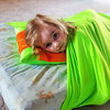 Twin Full Queen King size stretchy snuggle bed wrap,a weighted blanket alternative