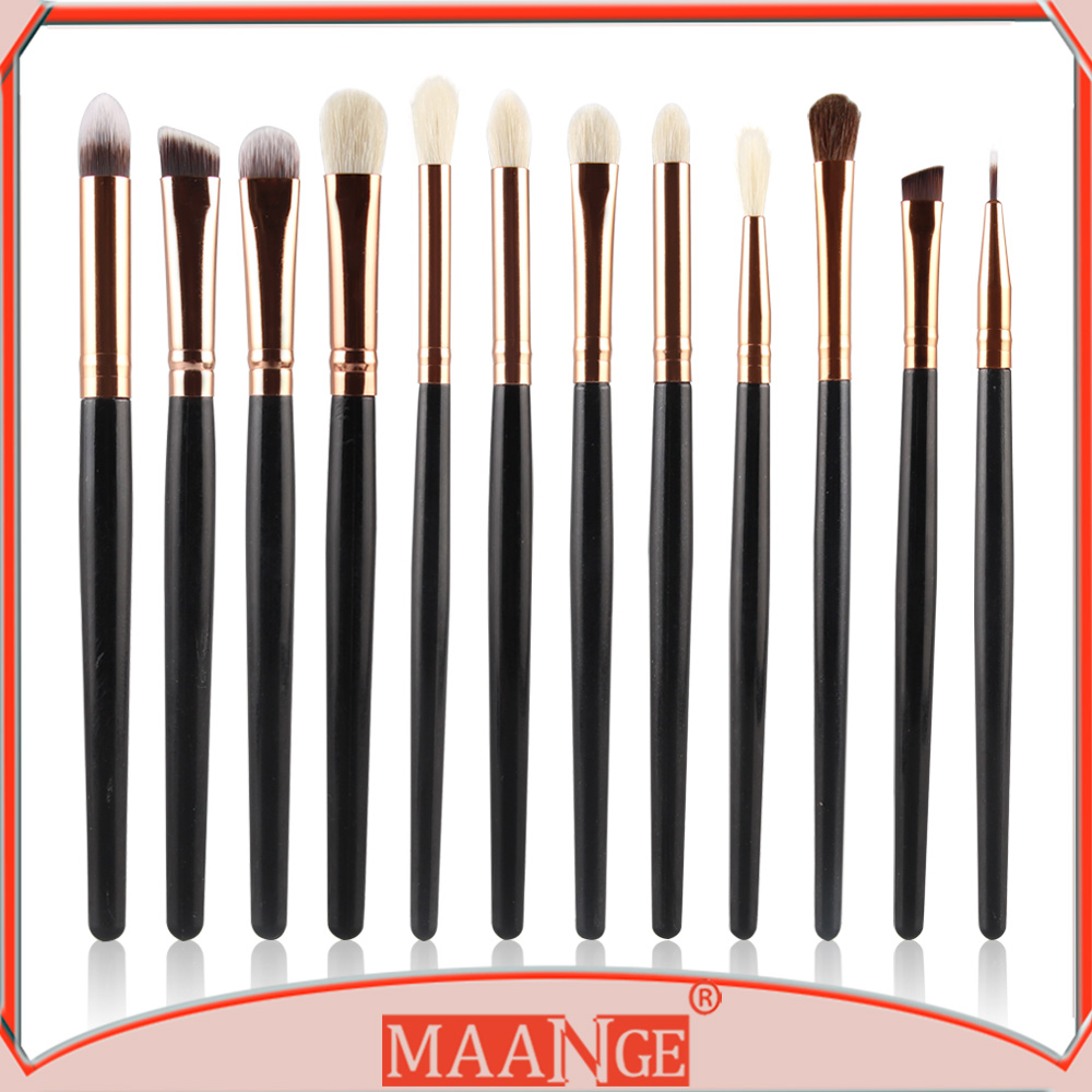 MAANGE 12pcs multifuntion makeup brush for eye brush makeup set