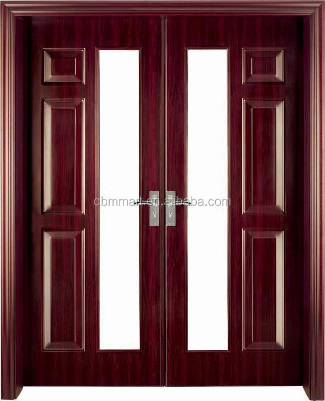 Proveedor china personalizada moderna de madera maciza for Puertas entrada madera maciza precios
