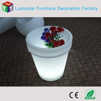 China Fabrikant Elektrische Roterende Bloempot Met Led Verlichting ...