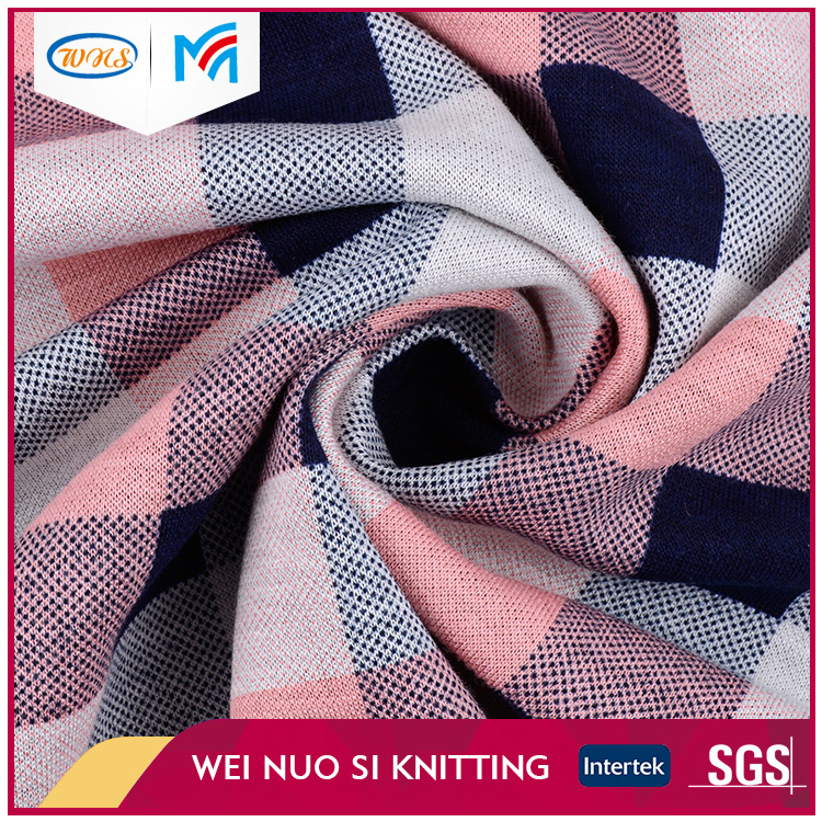 High density knit jacquard mesh dyeing fabric piece for woman dress