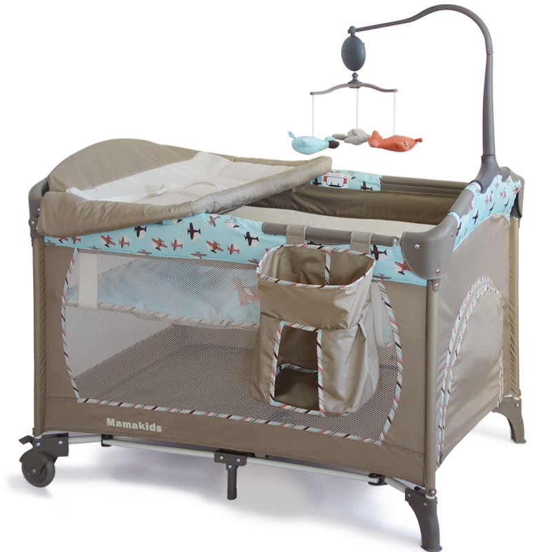 Adjustable Luxury Playpen Baby Cot Bed With Low Price