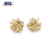 Excellent quality fancy gold flower metal sewing button for garment