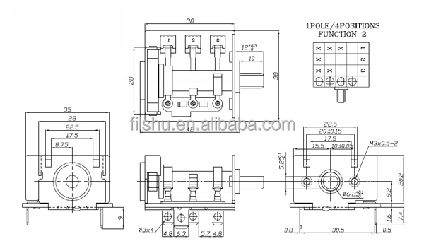 bremas rotary switch wiring diagram