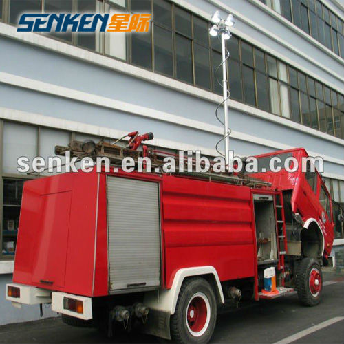 Vertical mounted telescopic mast tower telescopic light and high mast light pole