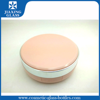 Cute Pink Air Cushion Case/Empty Plastic Cosmetic Container/Round Compact Powder Case