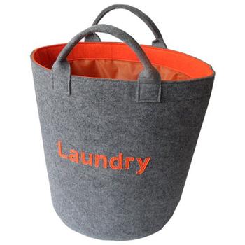 Whole Heavy Duty Large Felt Customized Laundry Basket With Handle