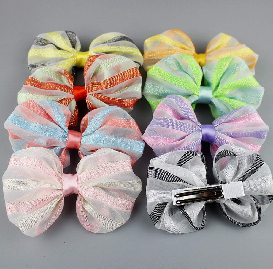 Lace Bowknot Kid's Hair Accessories Cute Fashion Baby Beak Clip for Baby Girl
