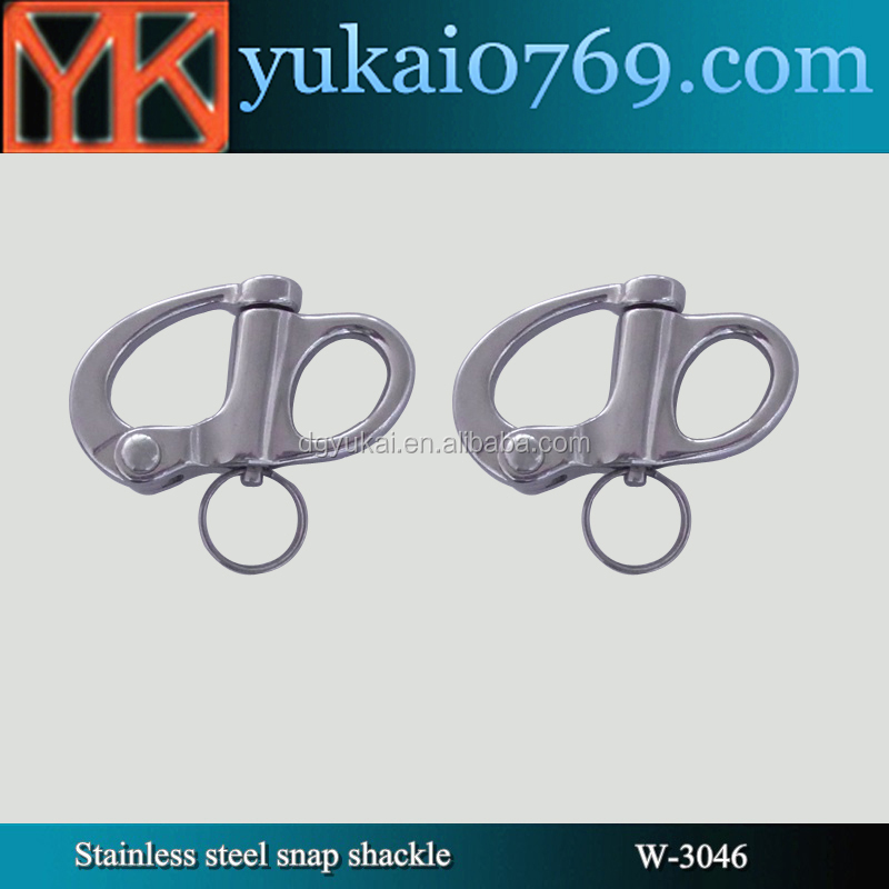Yukai marine hardware stainless steel fixed snap shackle/d shakcle