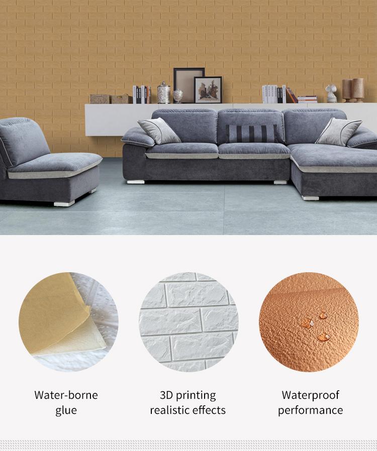 Safety Comfortable Moisture-proof Xpe 3d Foam Wallpaper Best Selling 3d  Brick Foam Wallpaper With Certificate - Buy Wallpaper Designs 3d,Wallpaper  3d