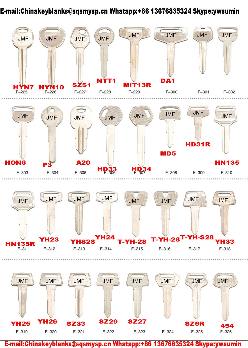 f201 types of ps15 old brass replacement car keys blank