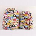 5 1pcs tsum Mickey Minnie Double canvas bag schoolbag Children girl boy Casual