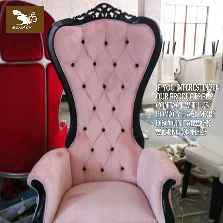Bomacy European Baroque Royal Throne King And Queen Pedicure Chair For Sale