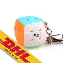 Qiyi <span class=keywords><strong>Cube</strong></span> Keychain 3x3 <span class=keywords><strong>Mini</strong></span> Tasche Würfel Schlüssel Ring Schlüsselring Puzzle Magic <span class=keywords><strong>Cube</strong></span> Zappeln Spielzeug 30mm