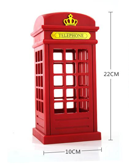 Wholesale Stock Small Order Creative USB Gift Table Lamp Retro Touch Telephone booth Night Light
