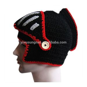 Best Design Creative Hand-knitted Wool Hat Roman Knights Cap